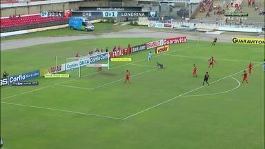 CRB perde para o Londrina na série B do Campeonato Brasileiro - Jogo foi no Estádio Rei Pelé e partida terminou em 3 a 0.