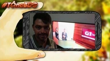 Telespectadores enviam fotos para o quadro 'Tô no BDG' - Imagens podem ser enviadas por email, Whatsapp ou QVT.