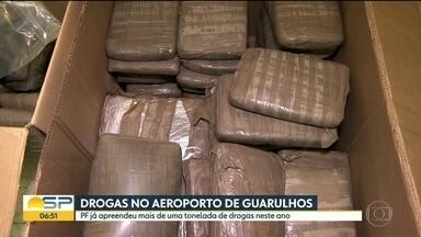 Em cinco meses, PF apreendeu mais drogas do que em 2016 no Aeroporto de Guarulhos - Foram apreendidos nesta terça-feira 84 kg de Skunk - uma espécie de maconha potencializada.