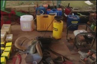 Presa em Uberlândia quadrilha especializada em roubos de máquinas e produtos agrícolas - Nove pessoas foram presas e materiais recuperados. Os mandados foram cumpridos na noite de ontem e na manhã desta segunda-feira (26).