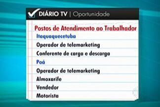 PATs do Alto Tietê têm mais de mil oportunidades de trabalho - Maioria das vagas é para operador de telemarketing. Cidades também têm vagas para auxiliar de limpeza, almoxarife, vendedor, entre outras.