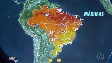 Previsão é de chuva no Rio Grande do Norte - Veja a previsão do tempo para todo o país nesta quinta-feira (29).