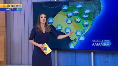 Tempo: Norte do RS deve receber chuva nesta sexta-feira (30) - Tempo volta a ficar firme na metade Sul.