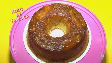 Receita: aprenda a fazer um bolo de tapioca com caramelo e banana da terra - A receita é simples e rápida; veja.