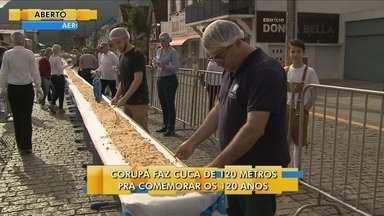 Corupá faz cuca de 120 metros para comemorar os 120 anos da cidade - Corupá faz cuca de 120 metros para comemorar os 120 anos da cidade