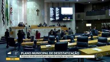 Plano Municipal de Desestatização é aprovada em primeira votação na Câmara - Proposta ainda passará por segunda votação em agosto.