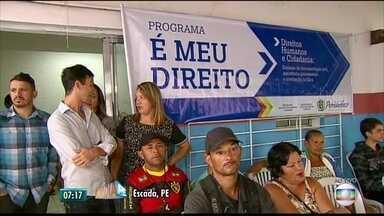 Em estado de emergência após chuvas, Escada recebe mutirão para retirada de documentos - A ação, que faz parte da Operação Prontidão, percorre 15 municípios pernambucanos.