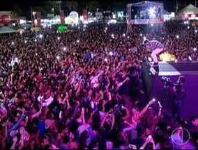 Show de Zé Felipe atrai 26 mil pessoas durante festa de aniversário de Montes Claros - De acordo com a prefeitura, durante o dia, mais de 60 mil pessoas estiveram no parque; 'Colo de Deus' se apresenta na noite desta terça-feira (4) em show católico.