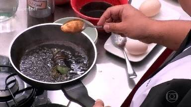 Thiago Maeda ensina a verificar o ponto do molho - Chef dá a dica para os participantes do Super Chef Celebridades