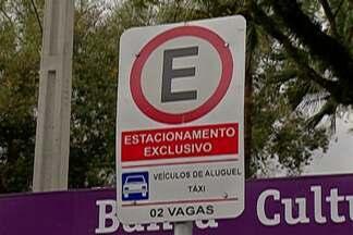 Mogi das Cruzes ganha 13 vagas de estacionamento controlado - Vagas foram instaladas na Rua Braz Cubas, no trecho entre as ruas Barão de Jaceguai e Doutor Ricardo Vilela.