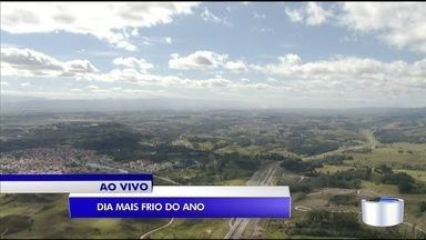 Campos do Jordão registra menor temperatura do ano - Teve geada.
