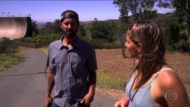 #CaliforniaOnboard: Maya Gabeira visita o skatista Bob Burnquist e conhece a mega rampa - #CaliforniaOnboard: Maya Gabeira visita o skatista Bob Burnquist e conhece a mega rampa.