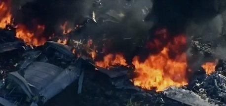 Avião militar cai no Mississippi (EUA) e deixa 16 mortos - Todas as 16 pessoas que estavam a bordo morreram. Ainda não se sabe o que causou o acidente.