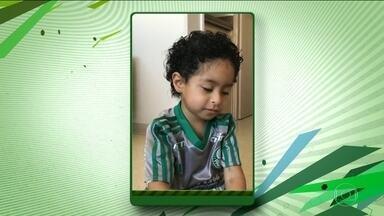 Ainda no hospital, filho de Alejandro Guerra, do Palmeiras, se recupera de acidente - Filho de Alejandro Guerra, do Palmeiras, sofreu um afogamento, mas se recupera bem em hospital.