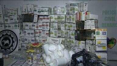 Polícia Civil apreende mais de 900 caixas de anabolizantes - Polícia Civil apreende mais de 900 caixas de anabolizantes.