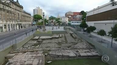Cais do Valongo precisa de reparos para não perder título de Patrimônio Cultural Mundial - Unesco reconheceu importância da área, mas exige melhorias
