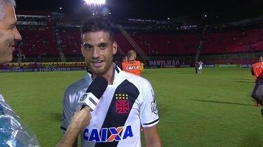 """Guilherme Costa valoriza base: """"Demos conta do recado. Esperava muito essa chance"""" - Garotada vascaína dá show e time vence a primeira fora de casa."""