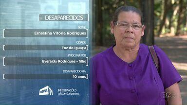 Dona Ernestina Rodrigues procura o filho Everaldo que não vê há dez anos - Se você tiver alguma informação que possa ajudar a encontrá-lo, ligue para o (45) 3520-4500 ou (45) 9 9951-5958