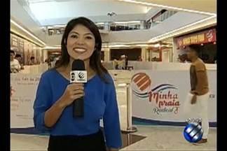"""Projeto """"Minha Praia"""" lista atividades para quem fica em Belém no mês de julho. - A repórter Tayná Horiguchi fala da programação que acontece em um shopping da capital."""