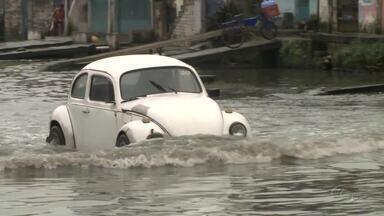 Alagamento continua prejudicando moradores do Vergel do Lago - Comunidade se queixa dos transtornos causados pelas fortes chuvas.