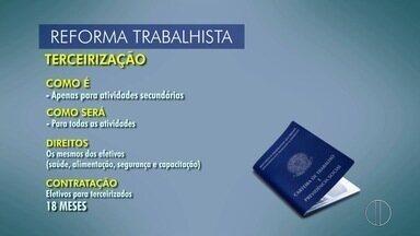 Sindipetro do Norte Fluminense afirma que reforma trabalhista não é vantajosa - Reforma trabalhista cria limite para terceirização; entenda as regras.