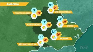 A sexta-feira vai ser de sol na região de Ponta Grossa - O tempo segue estável também no fim de semana.