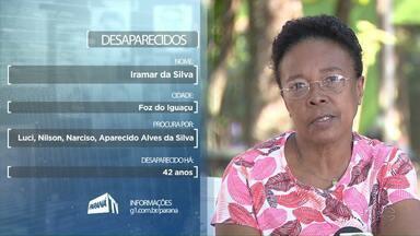 Iramar da Silva procura por familiares que estão desaparecidos - Qualquer informação pode ser repassada aos contatos da RPC.