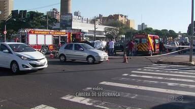 Vídeo mostra batida na av. Colombo com a Morangueira - Um motociclista morreu em um outro acidente em Marialva