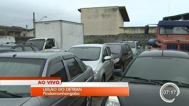 Detran leiloa mais de 500 veículos em Pinda - Visitação será aberta nesta terça.