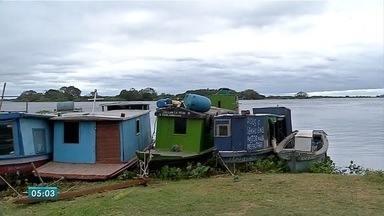 Pescadores e atletas são resgatados no rio Paraguai, em MS, em meio à ventania - A frente fria levou ventos fortes para o Pantanal de Mato Grosso do Sul. Marinha orienta a não utilizar o rio nestes dias.