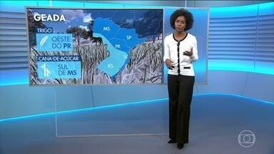 Grande parte do Sul ainda pode sofrer com frio e geadas - Confira a previsão do tempo no vídeo.