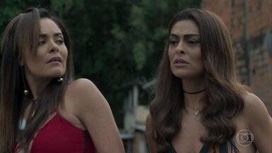 Alessia percebe o nervosismo de Bibi, que coloca a culpa em Jeiza - Bibi teme pela segurança de Caio ao ouvir Alessia ameaçá-lo. O advogado se incomoda com a presença de Jeiza