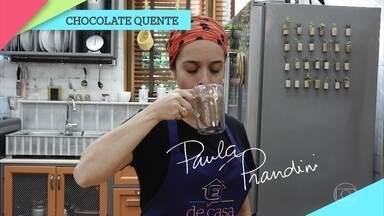 Veja como fazer chocolate quente - Confira a dica de Paula Prandini