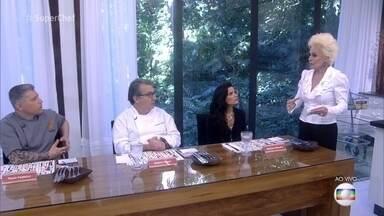 Vanessa Giácomo, Flavio Federico e Roland Villard são os jurados da prova final - Os três vão avaliar os pratos do finalistas do Super Chef Celebridades conforme forem ficando prontos