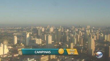 Final de semana tem previsão de calor e céu limpo na região de Campinas - Temperatura máxima para a cidade nesta sexta-feira (28) deve ser de 25ºC.