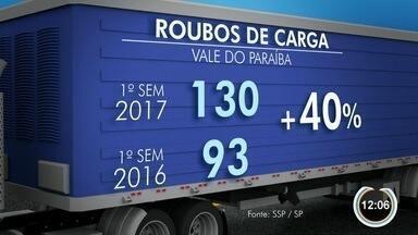 Roubo de carga aumenta 40% na região - Caminhoneiros estão cada vez mais inseguros.