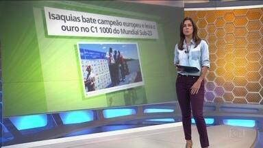 Isaquias Queiroz conquista ouro no C1 1000 no mundial sub 23 - Isaquias Queiroz conquista ouro no C1 1000 no mundial sub 23