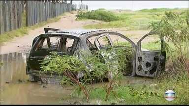 Investida contra banco em Itamaracá assusta moradores - Delegacia e prefeitura foram alvo de tiros; carros foram incendiados.