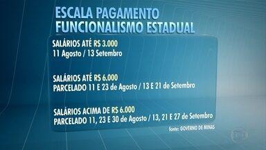 Governo de Minas divulga nova escala de pagamento do funcionalismo público estadual - O pagamento é referente aos meses de agosto e setembro.