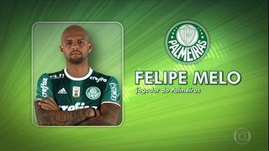 Áudio de Felipe Melo é estopim para saída de volante do Palmeiras - Áudio de Felipe Melo é estopim para saída de volante do Palmeiras