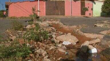 Excesso e buracos em ruas e lixo em terreno geram queixas em Mococa, SP - Abandono de cães também incomoda moradores.