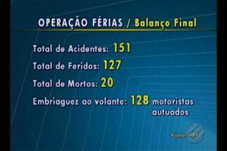 """Polícia Rodoviária Federal divulga balanço final da operação """"Férias 2017"""" - O balanço da operação referente ao mês de julho."""