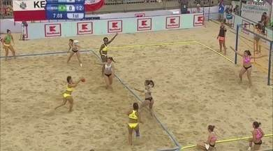 Sem apoio da CBHd, seleções de handebol de areia conquistam títulos no World Games - Brasil manteve a hegemonia mundial no masculino, vencendo a Croácia; e no feminino, contra a Argentina