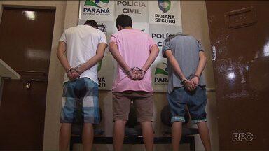 Três homens são presos suspeitos de matar um motorista do Uber em Campo Largo - Um adolescente continua foragido.