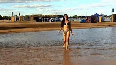 Kamila Simiema é eleita a Musa do Araguaia 2017 com quase 77% dos votos - Moradora de Goiânia, ela tem 18 anos e faz cursinho pré-vestibular. Jovem disputou o título com outras três beldades.