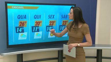 Tem previsão de chuva para esta quarta-feira - Uma frente fria deve chegar ao oeste do estado durante a tarde.
