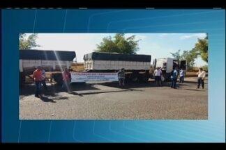 Protesto de caminhoneiros é realizado na BR-050 em Delta - Ato, realizado na manhã desta quarta-feira (2), foi contra o aumento dos preços de combustíveis.