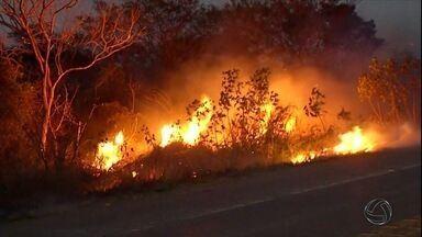 Em Corumbá, incêndio atinge áreas urbanas e rurais - Há muitos dias não chove no município. Pessoal do PrevFogo e do Corpo de Bombeiros tem trabalhado bastante para evitar que a situação saia de controle.
