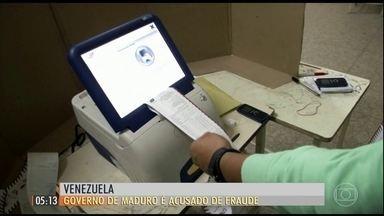 Governo é acusado de fraude eleitoral na Venezuela - A empresa responsável pelo sistema eletrônico usado na eleição para a assembleia constituinte disse que a votação foi manipulada.