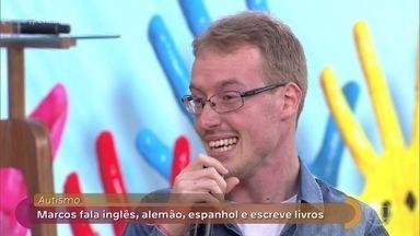 Marcos Petri tira dúvidas na internet sobre sua rotina como autista - Ele criou o canal para mostrar que é possível viver bem com o autismo. Transtorno pode atingir uma em cada 45 crianças